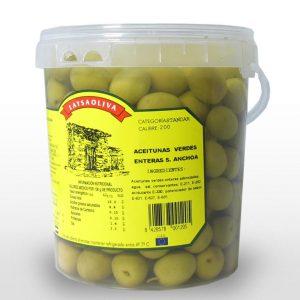 Aceituna Entera Verde Sabor Anchoa - 1,45 Kilos